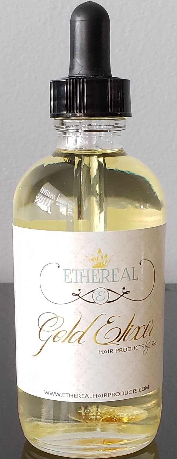 Cropped Ethereal Gold Elixir